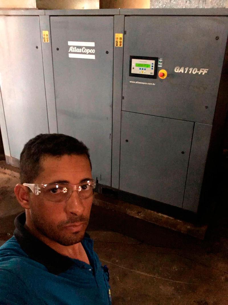 Manutenção de compressores de ar atlas copco